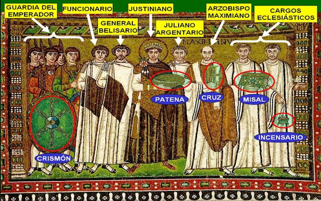 Resultado de imagen de mosaico de justiniano y teodora en san vital de ravena