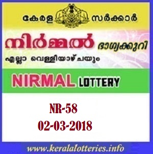 NIRMAL (NR-58) LOTTERY RESULT