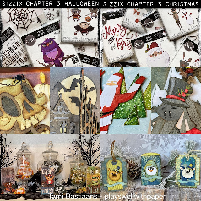 Sizzix Christmas Dies 2020 Plays Well With Paper: Halloween and Christmas fun with Tim Holtz