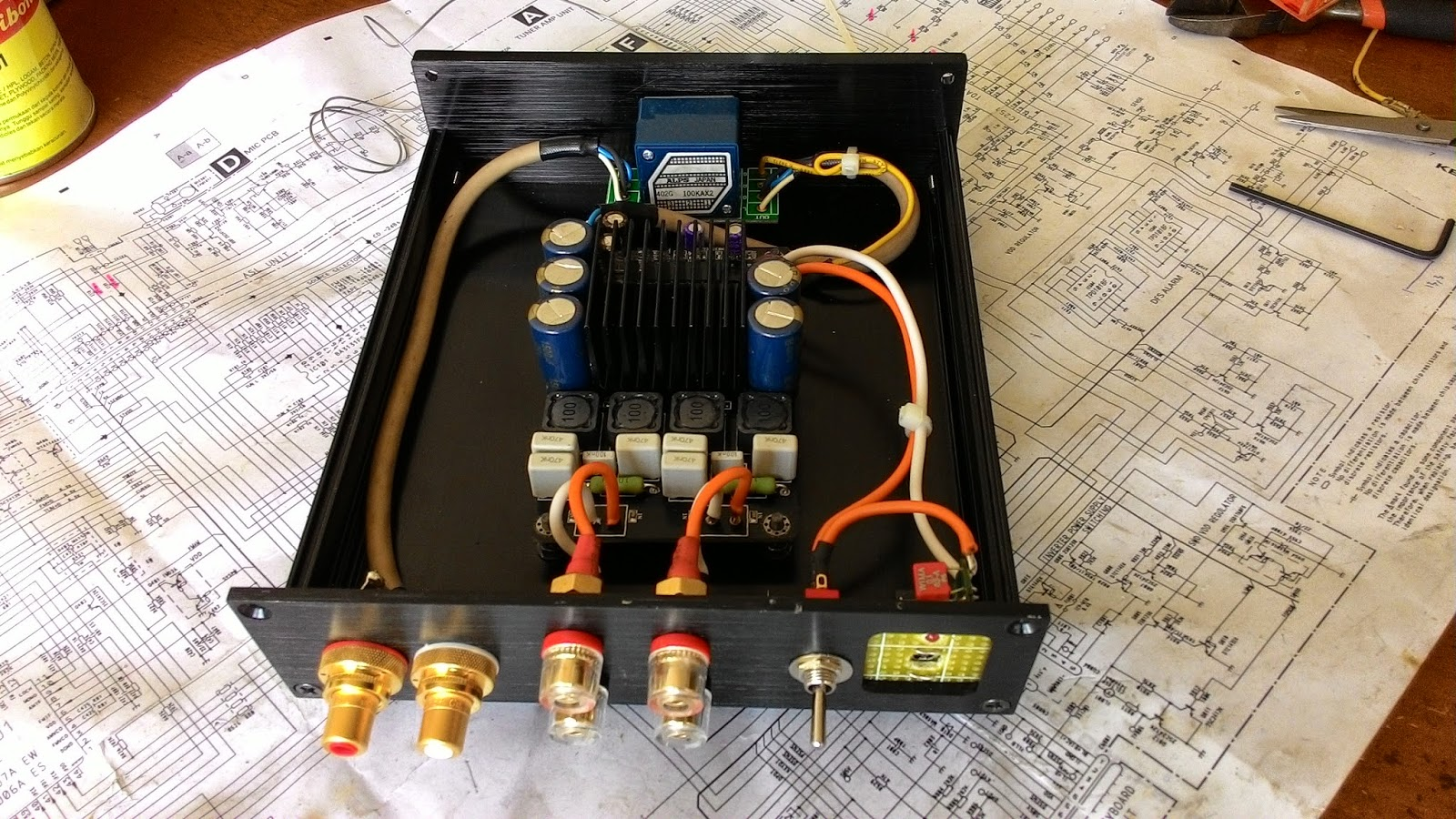 the orronoco audio diy tripath tk2050 amplifier kit part 3 final assembly review. Black Bedroom Furniture Sets. Home Design Ideas