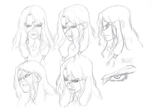 """Los diseños de personaje del anime de """"Dr. STONE""""."""