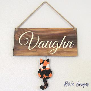 kitty homemade craft ideas diy template custom seasonal sign