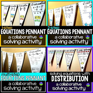 Solving equations math pennant bundle