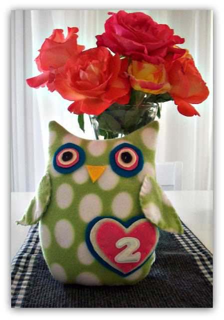 fleece owl stuffed toy