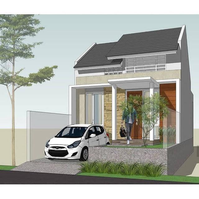 contoh gambar untuk garasi mobil rumah kecil 3d