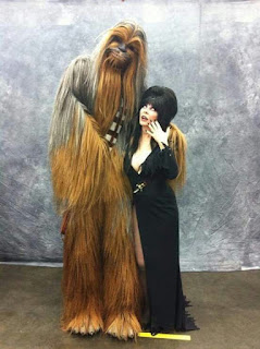 Chewbacca and Elvira