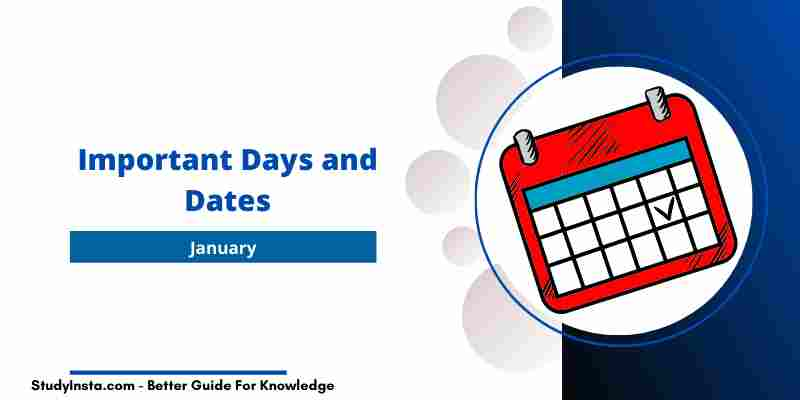 Important Days and Dates in January 2021 [PDF]