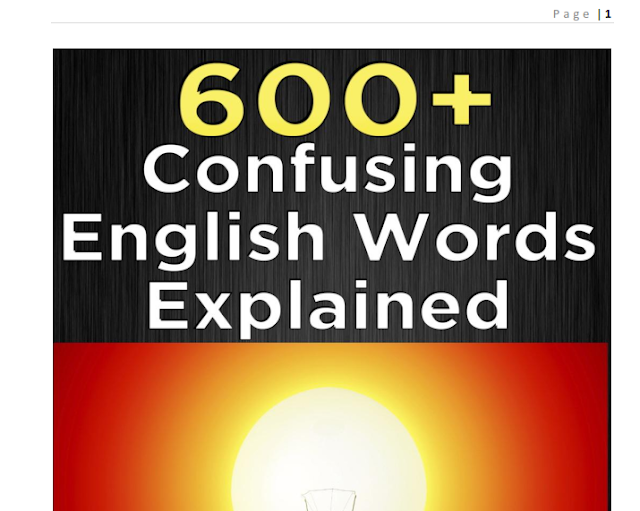 600+ Most Common confusing words in English PDF