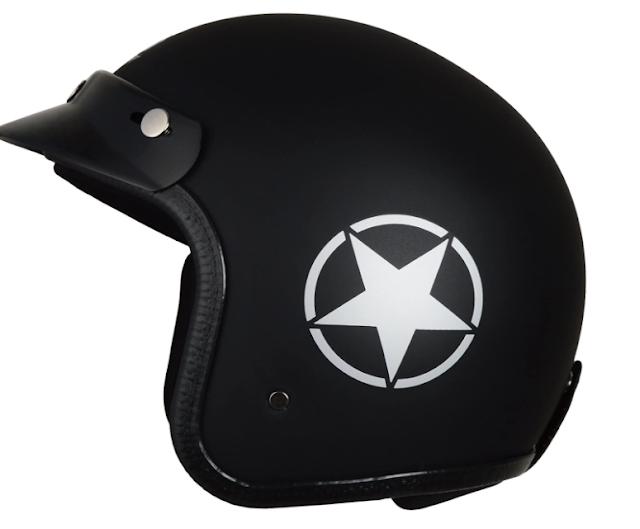 Autofy Front Open Helmet (Black and Grey, 580mm)