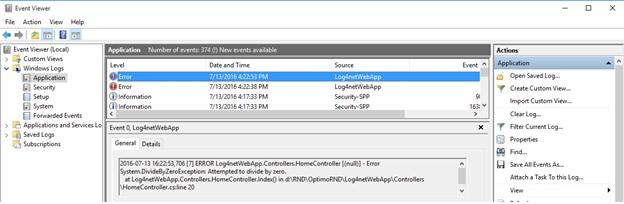 Log4net with MVC Windows Event Log    net tips and tricks
