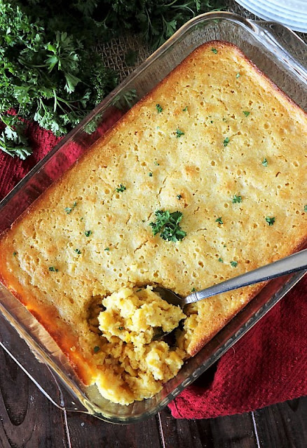 Country Corn Casserole Made with Cornbread Mix Image