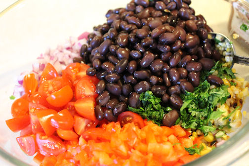 The Colorful Grilled Corn and Black Bean Salad Ingredients