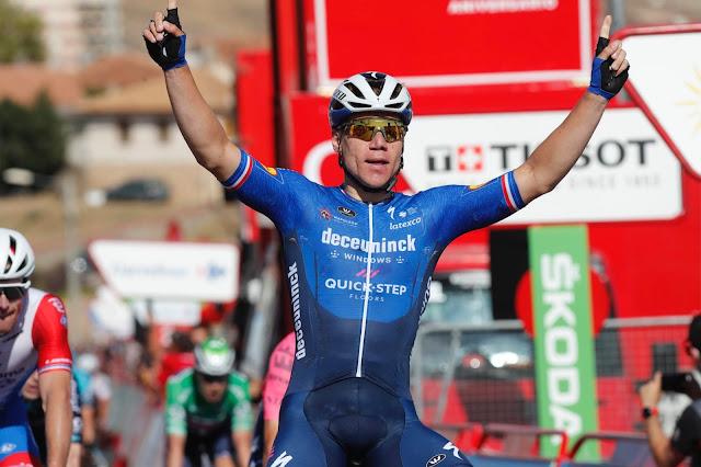 Fabio Jakobsen venceu pela segunda vez uma etapa da Vuelta a España