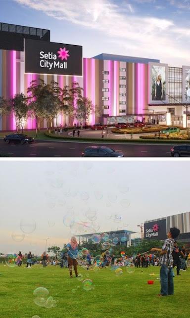 Setia City Mall padang dan rupa luaran