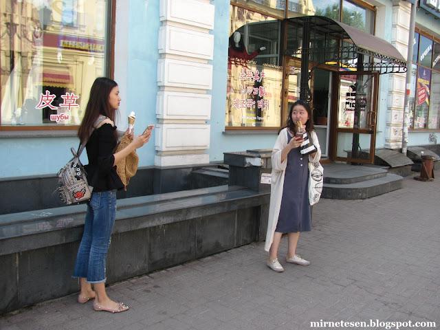 Иркутск - вывески на китайском языке в магазине на улице Урицкого