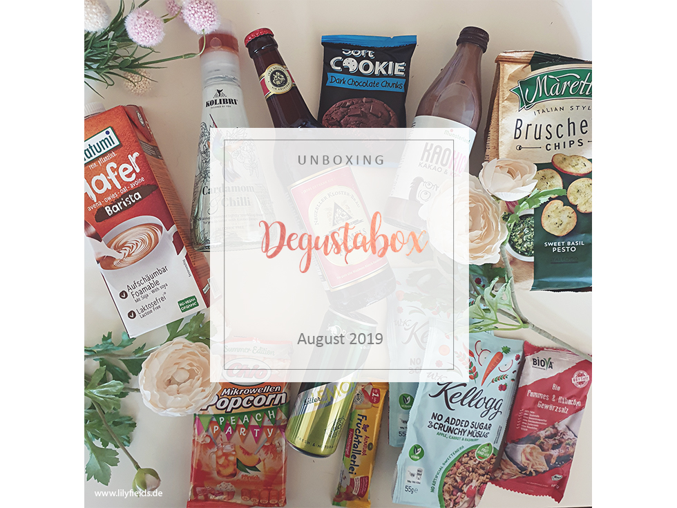 Degustabox - unboxing - August 2019