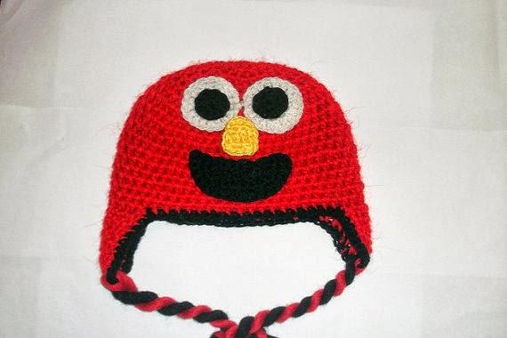 Cute Designs Elmo Hat Crochet Pattern