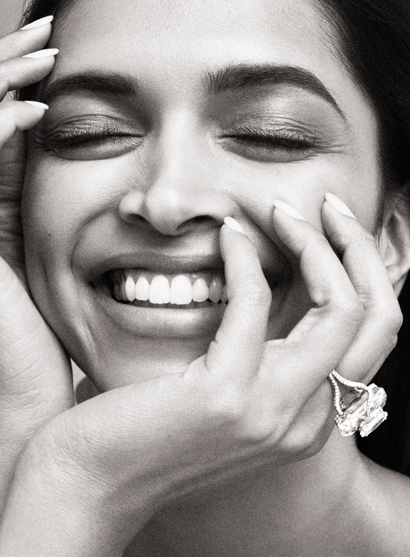 Deepika Padukone Dazzles in Vanity Fair Jewelry Shoot