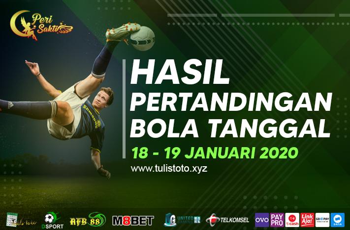 HASIL BOLA TANGGAL 18 – 19 JANUARI 2021