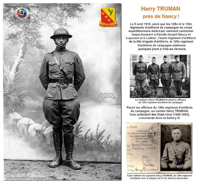 Août 1918 : Harry Truman, futur président des Etats-Unis, près de Nancy !
