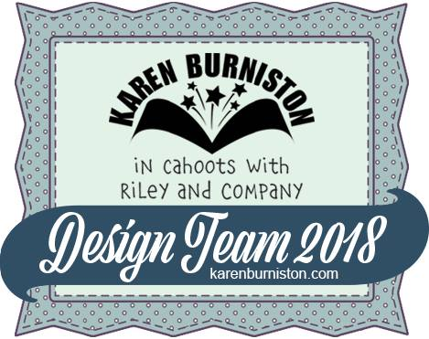 Proud member of Karen Burniston's 2018 Design Team