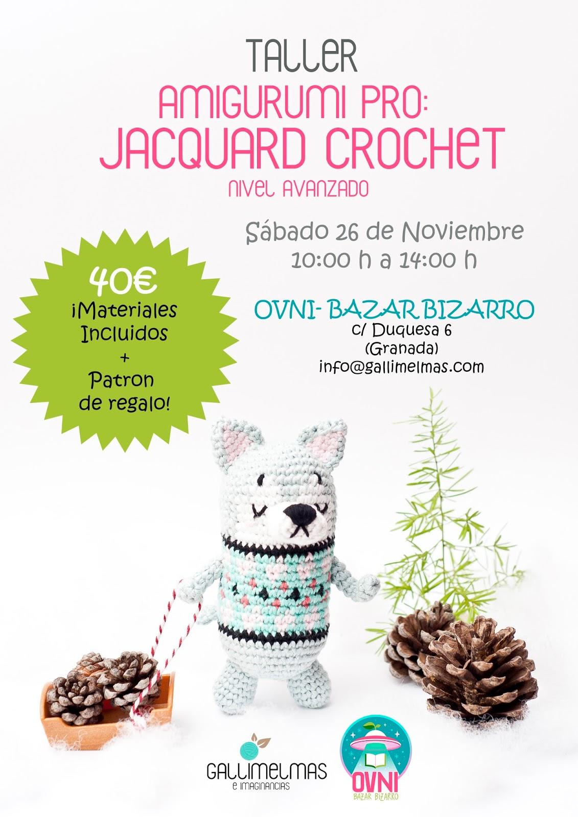 Haz tus amigurumis aún más divertidos! ¡Taller de Jacquard Crochet ...