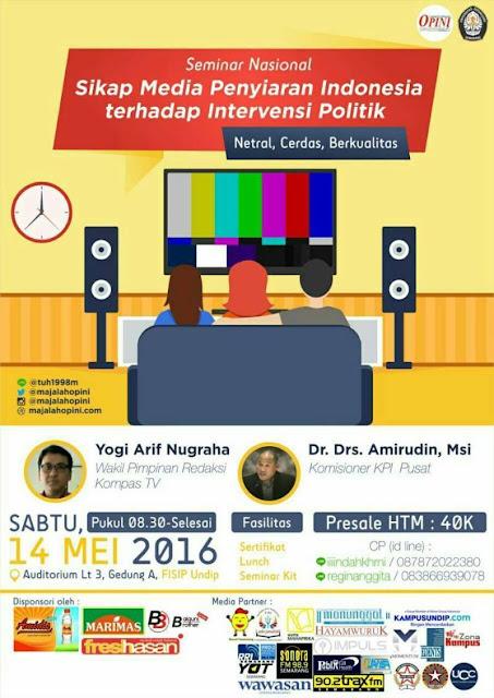 SEMNAS Media Penyiaran Indonesia LPM OPINI Undip