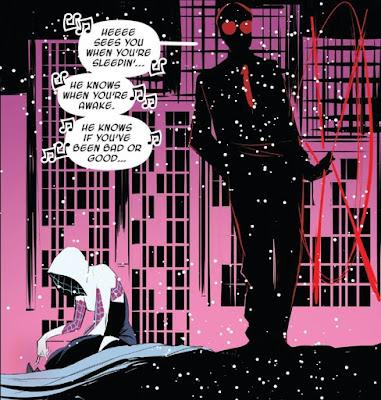 Panel de Spider Gwen con Daredevil