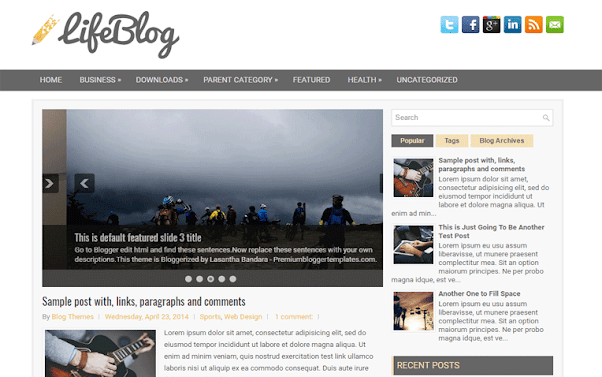 LifeBlog Free Blogger Template