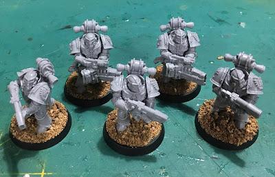 Horus Heresy Dark Angels Interemptors WIP