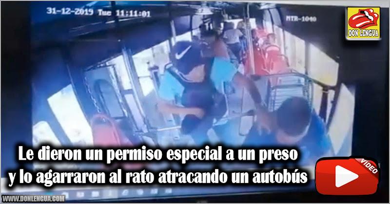 Le dieron un permiso especial a un preso y lo agarraron al rato atracando un autobús