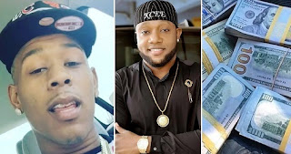 Man calls out kcee for using his dolar bills to deceive Nigerians