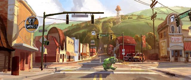 Pixar Onward city by Huy Nguyen