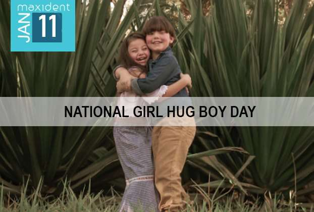 National Girl Hug Boy Day Wishes Photos