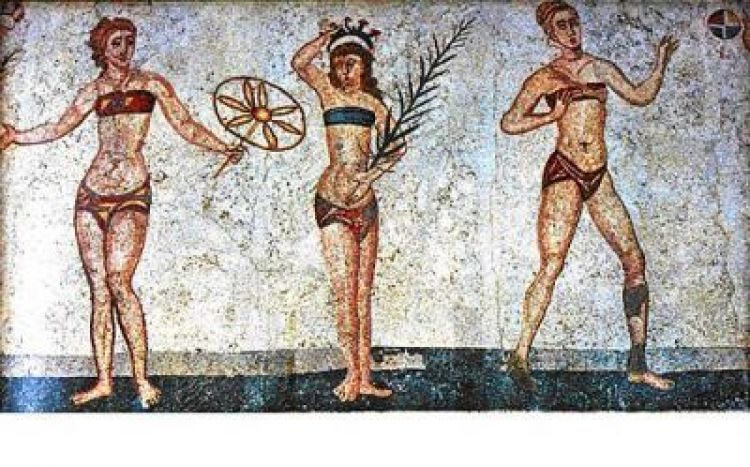Abbey roads the history of the bikini - La villa romaine antique ...