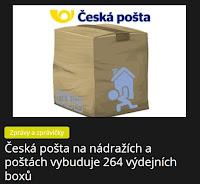 Česká pošta na nádražích a poštách vybuduje 264 výdejních boxů - AzaNoviny