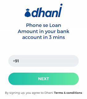 Dhani app sign up
