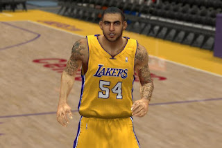 NBA 2K13 Robert Sacre Tattoos Patch