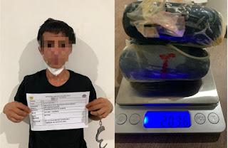 Bea Cukai Batam Amankan Seorang Pria Seludupkan Sabu di Bandara Hang Nadim