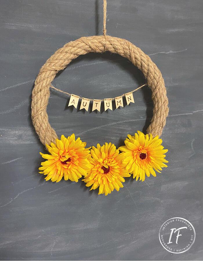 Small Autumn Wreath DIY