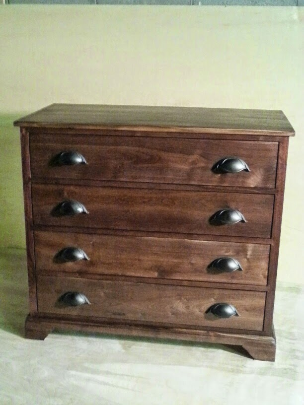 Custom-designed walnut chest of drawers
