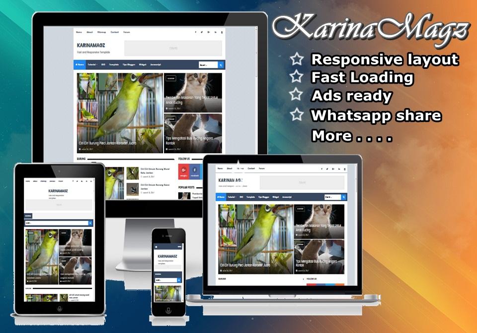 KARINAMAGZ Premium Blogger Template