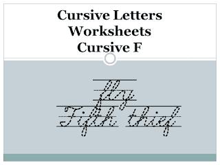 Cursive Letters Worksheets - Cursive F
