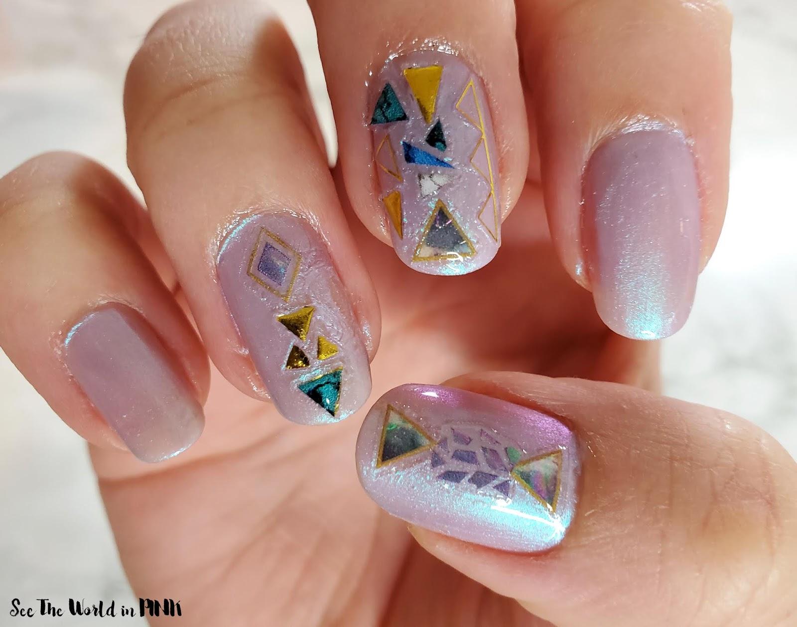 Manicure Monday - Shimmery Gem Stone Nail Stickers