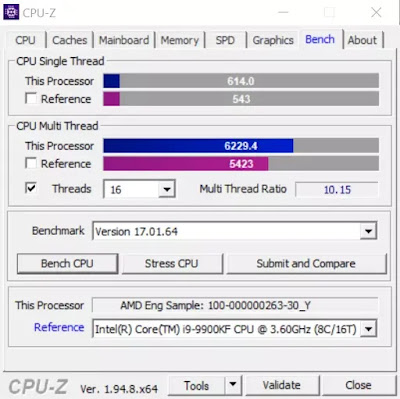 AMD-Ryzen-7-5750G-Pro-Engineering-Sample-CPU-Z-Benchmark-Score