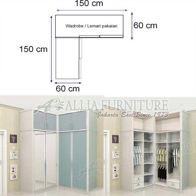 lemari minimalis desain sudut model ben