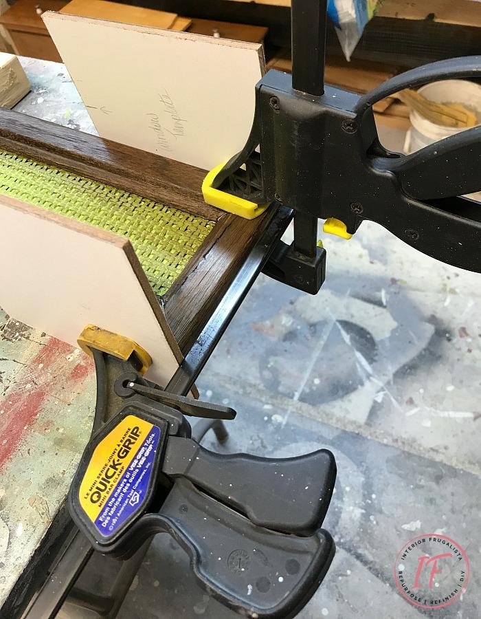 DIY Monogram Wall Decor Repairing Rattan Headboard