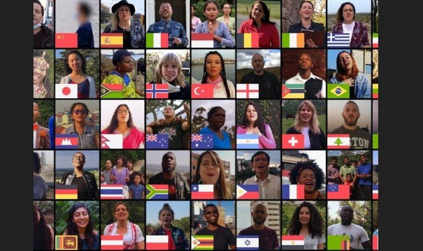 Brasil se junta a 50 países para cantar