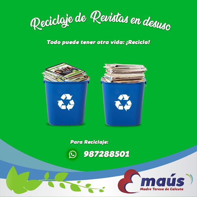Reciclaje de revistas en desuso en Lima
