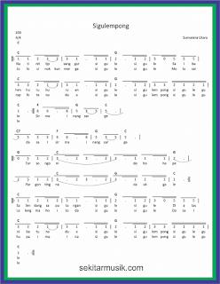 not angka sigulempong lagu daerah sumatera utara